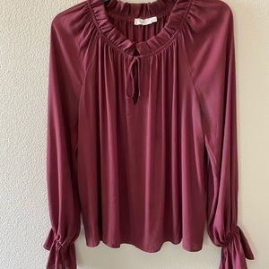 New to tags Lush Burgundy Blouse